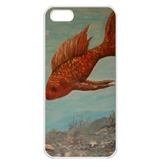 Gold Fish Apple Iphone 5 Seamless Case (white)