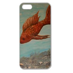 Gold Fish Apple Seamless Iphone 5 Case (clear)