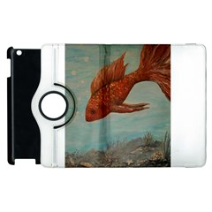 Gold Fish Apple iPad 2 Flip 360 Case