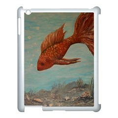 Gold Fish Apple Ipad 3/4 Case (white)