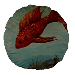 Gold Fish 18  Premium Round Cushion