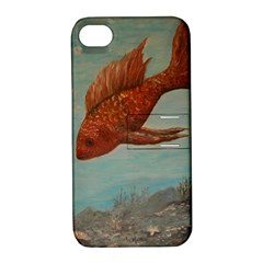 Gold Fish Apple iPhone 4/4S Hardshell Case with Stand