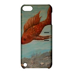 Gold Fish Apple Ipod Touch 5 Hardshell Case With Stand