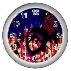 My Dragon Wall Clock (Silver)