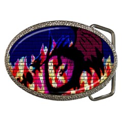 My Dragon Belt Buckle (oval)