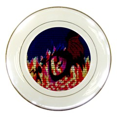 My Dragon Porcelain Display Plate