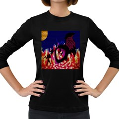 My Dragon Women s Long Sleeve T-shirt (Dark Colored)