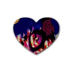 My Dragon Drink Coasters (Heart)