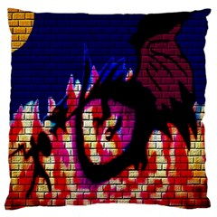 My Dragon Large Cushion Case (Two Sided)