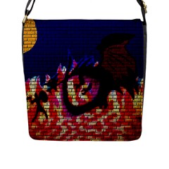My Dragon Flap Closure Messenger Bag (Large)