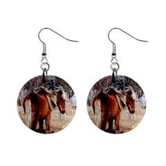 Pretty Pony Mini Button Earrings