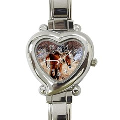 Pretty Pony Heart Italian Charm Watch