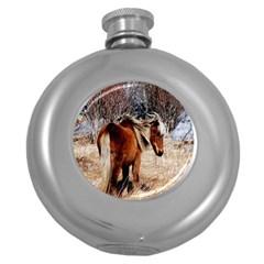 Pretty Pony Hip Flask (round)