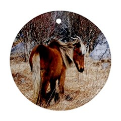 Pretty Pony Round Ornament (Two Sides)