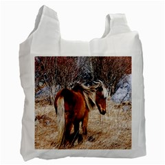 Pretty Pony White Reusable Bag (two Sides)
