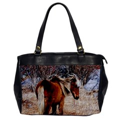 Pretty Pony Oversize Office Handbag (one Side)