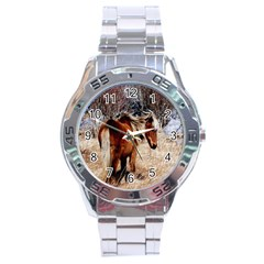 Pretty Pony Stainless Steel Watch