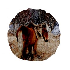 Pretty Pony 15  Premium Round Cushion