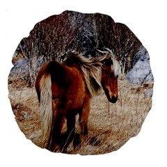 Pretty Pony 18  Premium Round Cushion