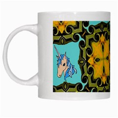 Orange Unicorn White Coffee Mug