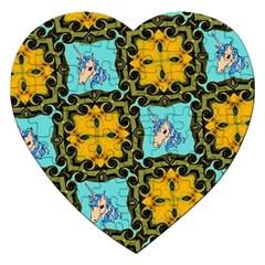 Orange Unicorn Jigsaw Puzzle (Heart)