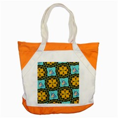Orange Unicorn Accent Tote Bag