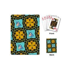 Orange Unicorn Playing Cards (Mini)