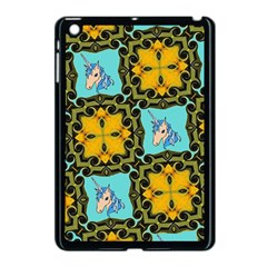 Orange Unicorn Apple iPad Mini Case (Black)