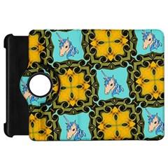 Orange Unicorn Kindle Fire HD 7  (1st Gen) Flip 360 Case