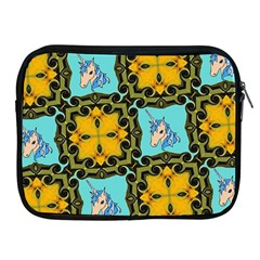Orange Unicorn Apple iPad Zippered Sleeve