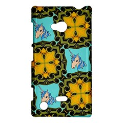 Orange Unicorn Nokia Lumia 720 Hardshell Case