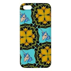 Orange Unicorn iPhone 5S Premium Hardshell Case