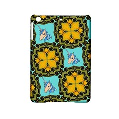 Orange Unicorn Apple iPad Mini 2 Hardshell Case