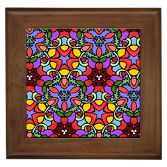 Bright Colors Framed Ceramic Tile