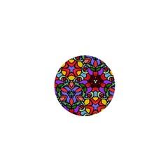Bright Colors 1  Mini Button