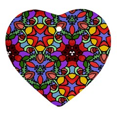Bright Colors Heart Ornament