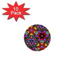 Bright Colors 1  Mini Button (10 pack)
