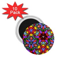 Bright Colors 1.75  Button Magnet (10 pack)