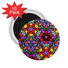 Bright Colors 2.25  Button Magnet (10 pack)
