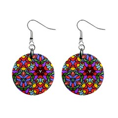 Bright Colors Mini Button Earrings