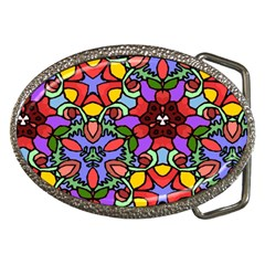Bright Colors Belt Buckle (oval)