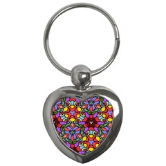 Bright Colors Key Chain (heart)