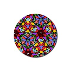 Bright Colors Drink Coasters 4 Pack (Round)