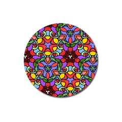Bright Colors Magnet 3  (Round)