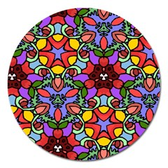 Bright Colors Magnet 5  (Round)