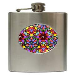 Bright Colors Hip Flask