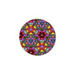 Bright Colors Golf Ball Marker 4 Pack