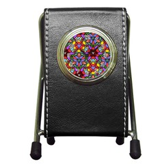 Bright Colors Stationery Holder Clock