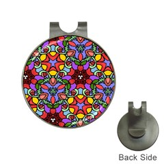 Bright Colors Hat Clip With Golf Ball Marker