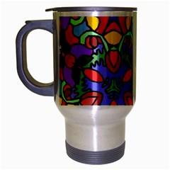 Bright Colors Travel Mug (Silver Gray)